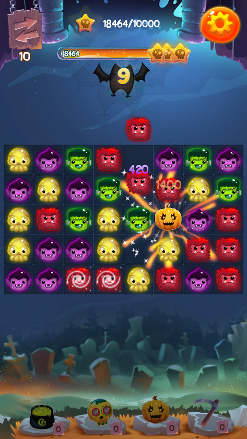 Halloween Monsters II: Match 3 Screenshot #2