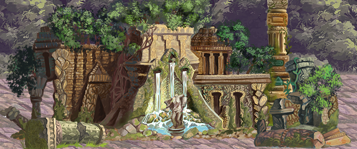 Ancient ruin tiles and level design